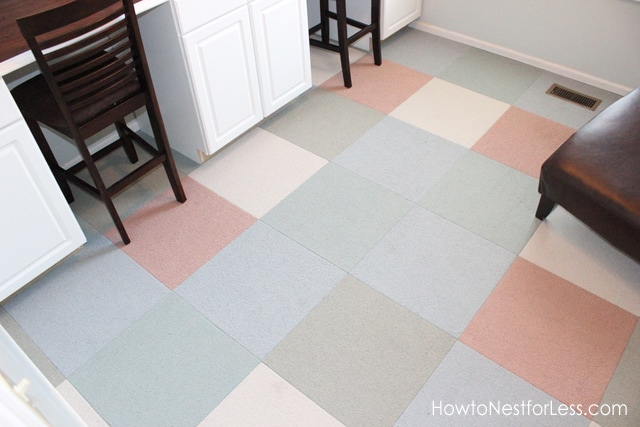 How to Install FLOR Carpet Tiles {craft room makeover ...