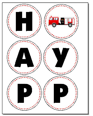 Firetruck Themed Birthday Party with FREE Printables - How to Nest ...