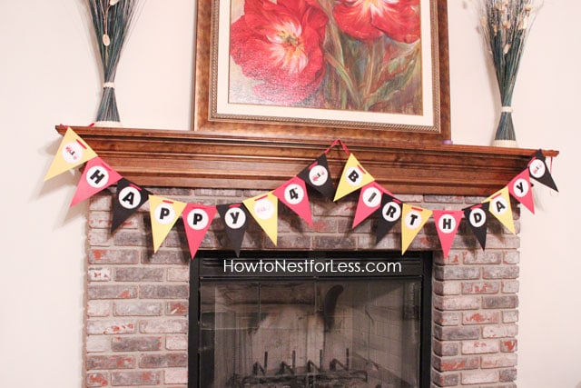 Free fire truck birthday party banner!