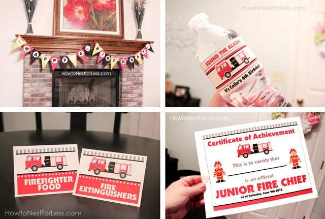 Firetruck Themed Birthday Party with FREE Printables How to Nest – Fireman Party Invitations