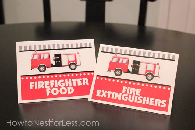 Firetruck Themed Birthday Party with FREE Printables How to Nest