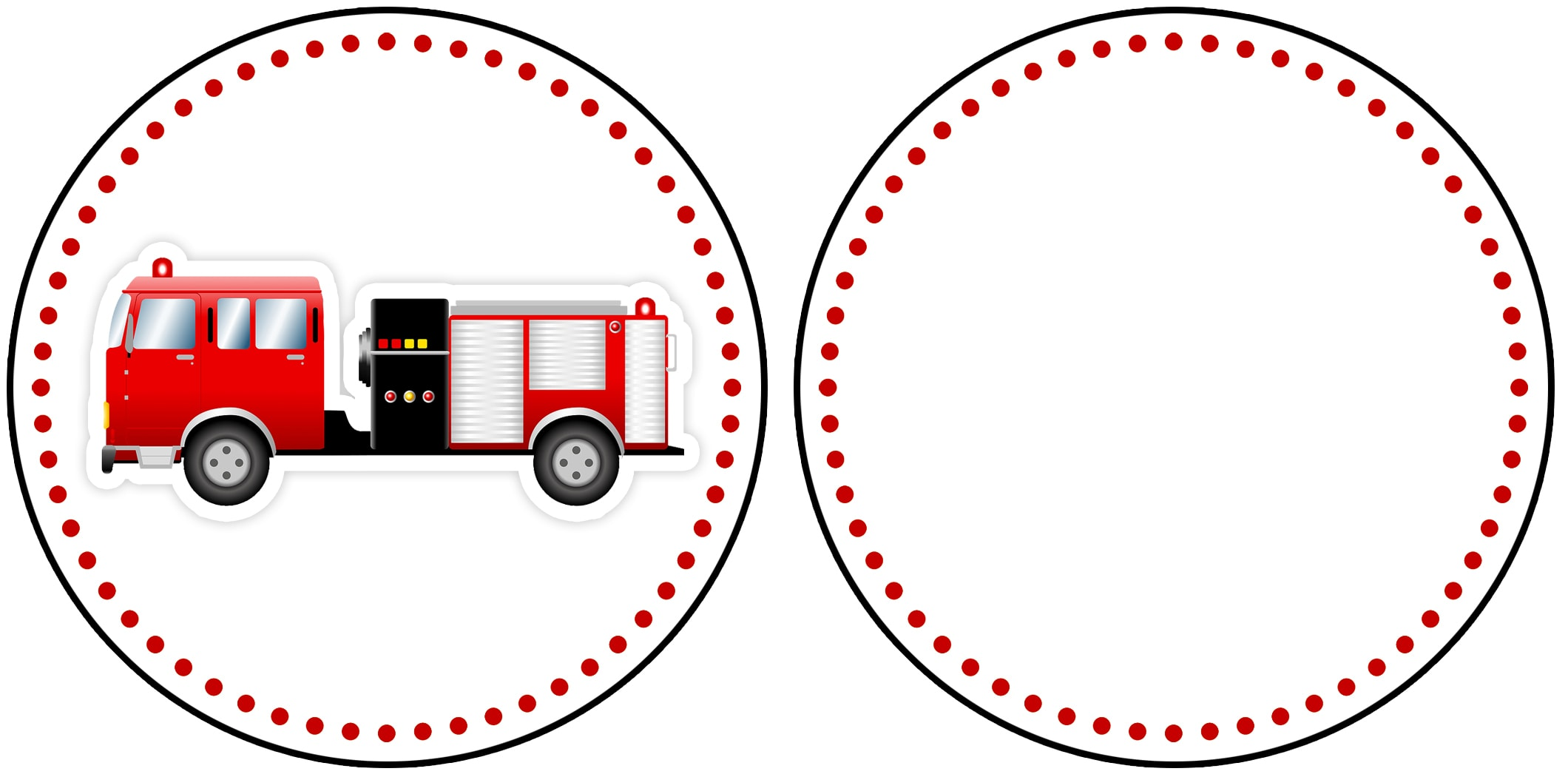 Firetruck Themed Birthday Party with FREE Printables How to Nest – Printable Car Template