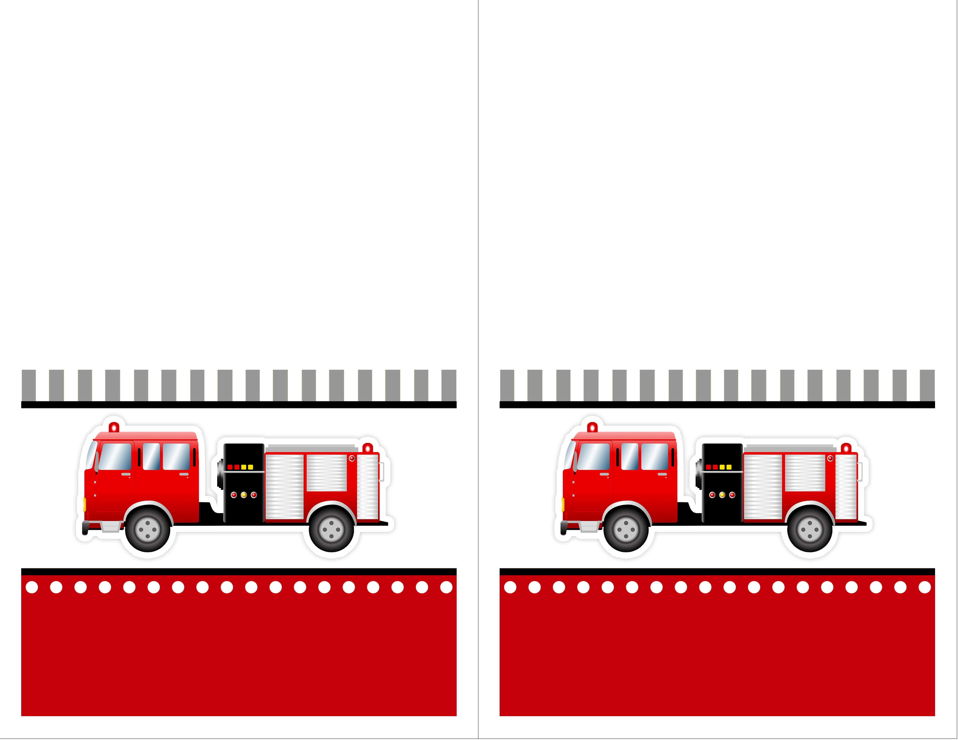 Firetruck Themed Birthday Party with FREE Printables - How to Nest for Less™