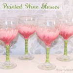 Hand Painted Flower Wine Glasses