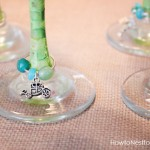 handmade wine glass charms beads