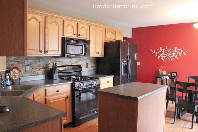 Kitchen makeover plan how to nest for less for Kitchen accent wall
