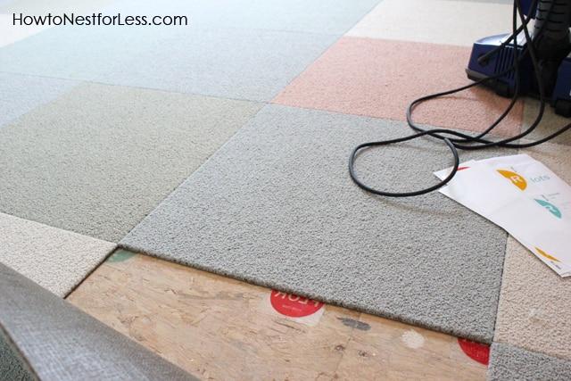 How To Install Flor Carpet Tiles Craft Room Makeover