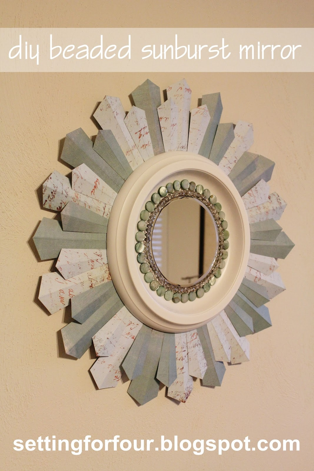 DIY Beaded Sunburst Mirror {Guest Post from Setting for Four}