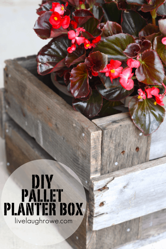 Pallet Planter Box {Guest Post from Live.Laugh.Rowe.}