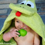 DIY Hooded Frog Towel {Guest Post from Crazy Little Projects}