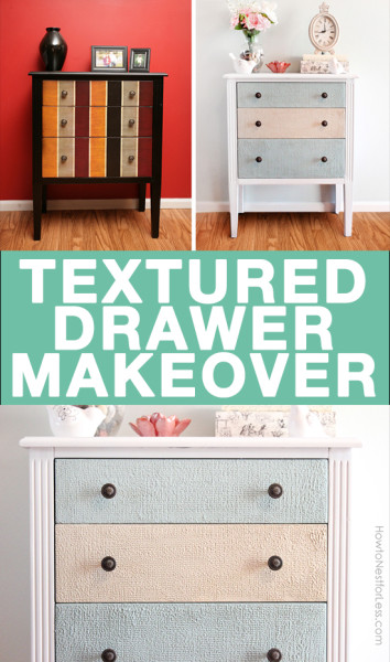 TEXTURED DRAWER MAKEOVER