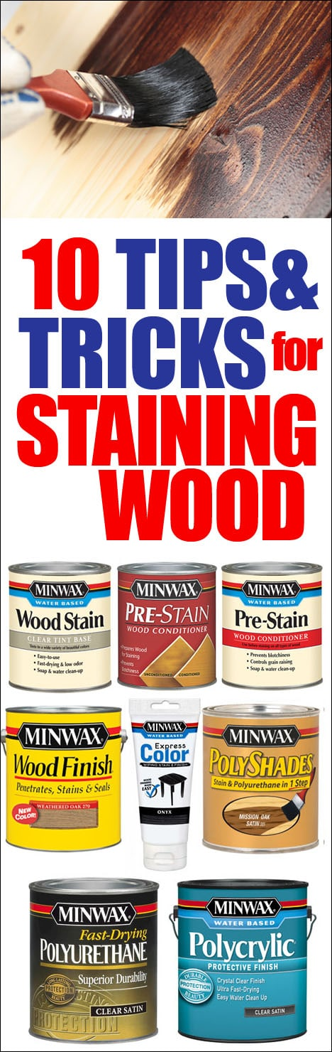 TIPS AND TRICKS FOR STANING WOOD poster.
