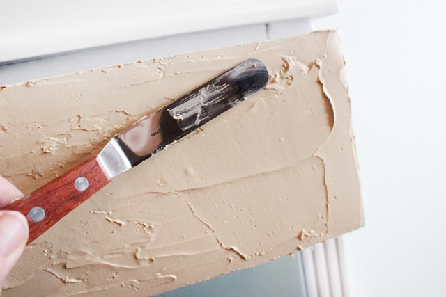 apply wood icing