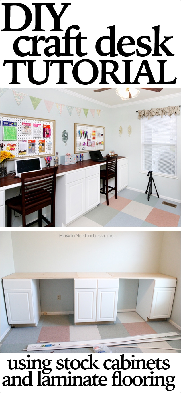 Craft Room Desk Tutorial How To Nest For Less