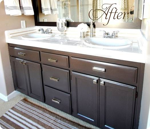 paint bathroom cabinets espresso get inspired 15 bathroom makeovers how to 24225