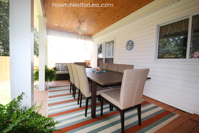 Backyard Porch Makeover