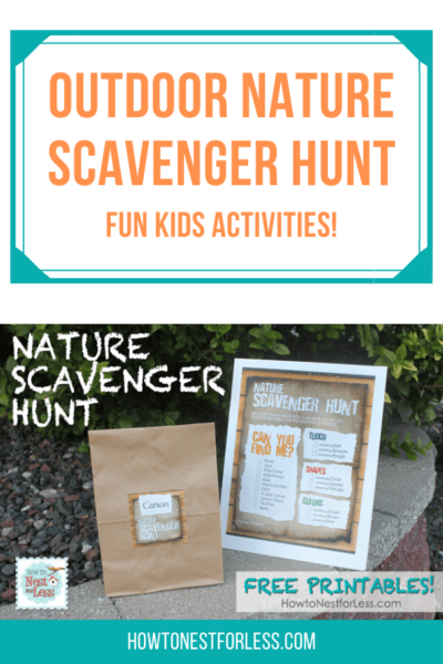 The most fun outdoor nature scavenger hunt for kids!