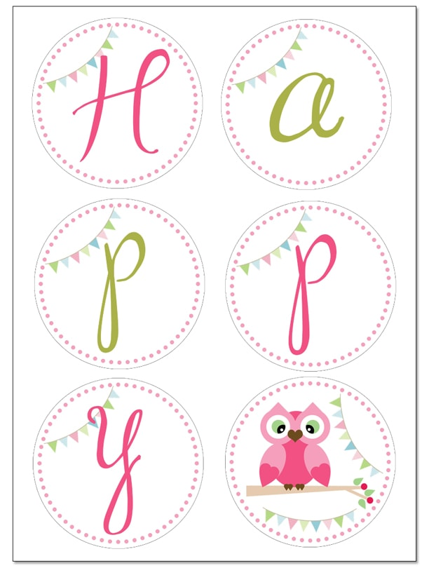 "picture about Free Birthday Banner Printable titled Owl Birthday Occasion with Totally free Printables - How towards Nest for Lessâ""¢"