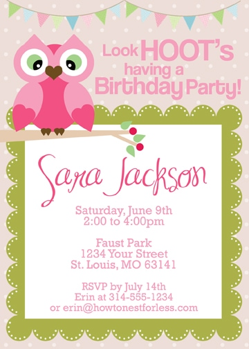 Playful image with printable part invitations