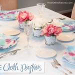 Tie Dye Summer Party {Wreath & Cloth Napkins}