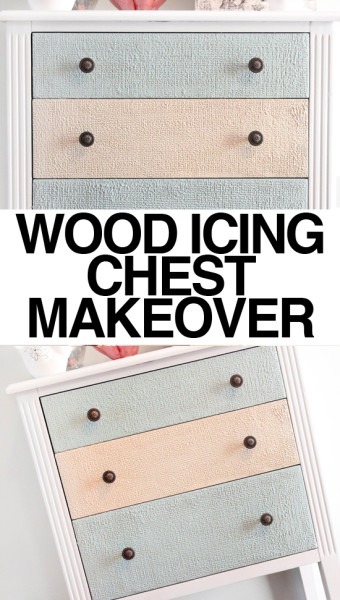 wood icing chest makeover