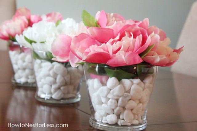 So ... & Dollar Store Flower Vase Centerpieces - How to Nest for Less™