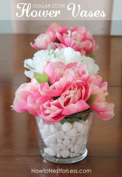 Dollar store flower vase centerpieces how to nest for less i mightylinksfo