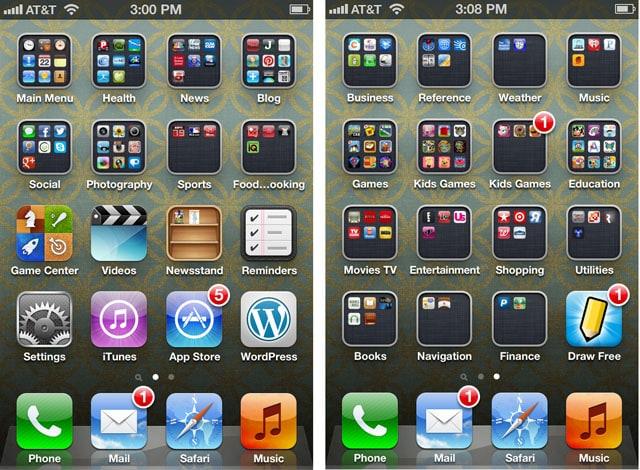 Favorite iphone apps folders