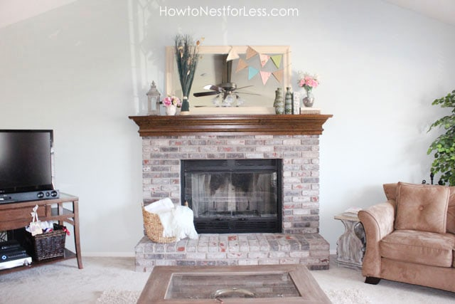 Fireplace Mantel Makeover How to Nest for Less