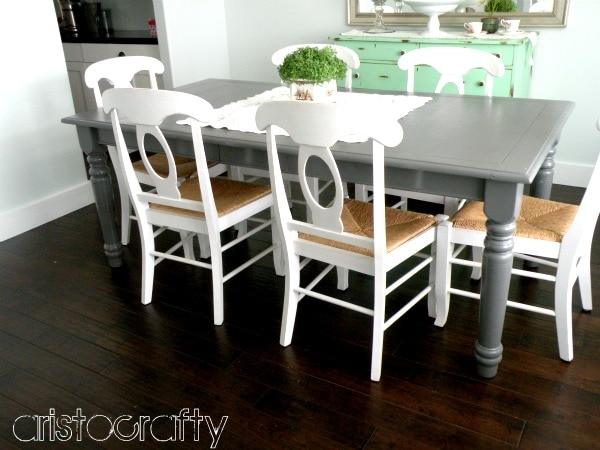 Gray And White Kitchen Table