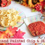 Hand Painted Fall Chip & Dip Set