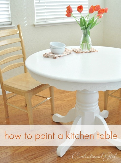 Superb How To Paint A Kitchen Table ... Pictures