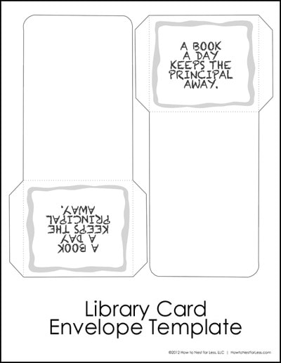 Printable Library Cards And Pockets Zoo Idoimages Co