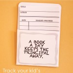 LIBRARY CARDS: track your kid's reading progress {free printable}