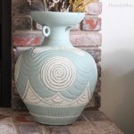 painted ceramic vase hearth