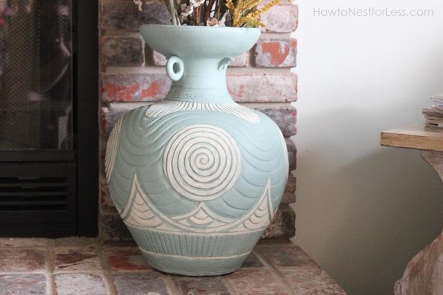 Upcycle It: Painted Large Ceramic Vase