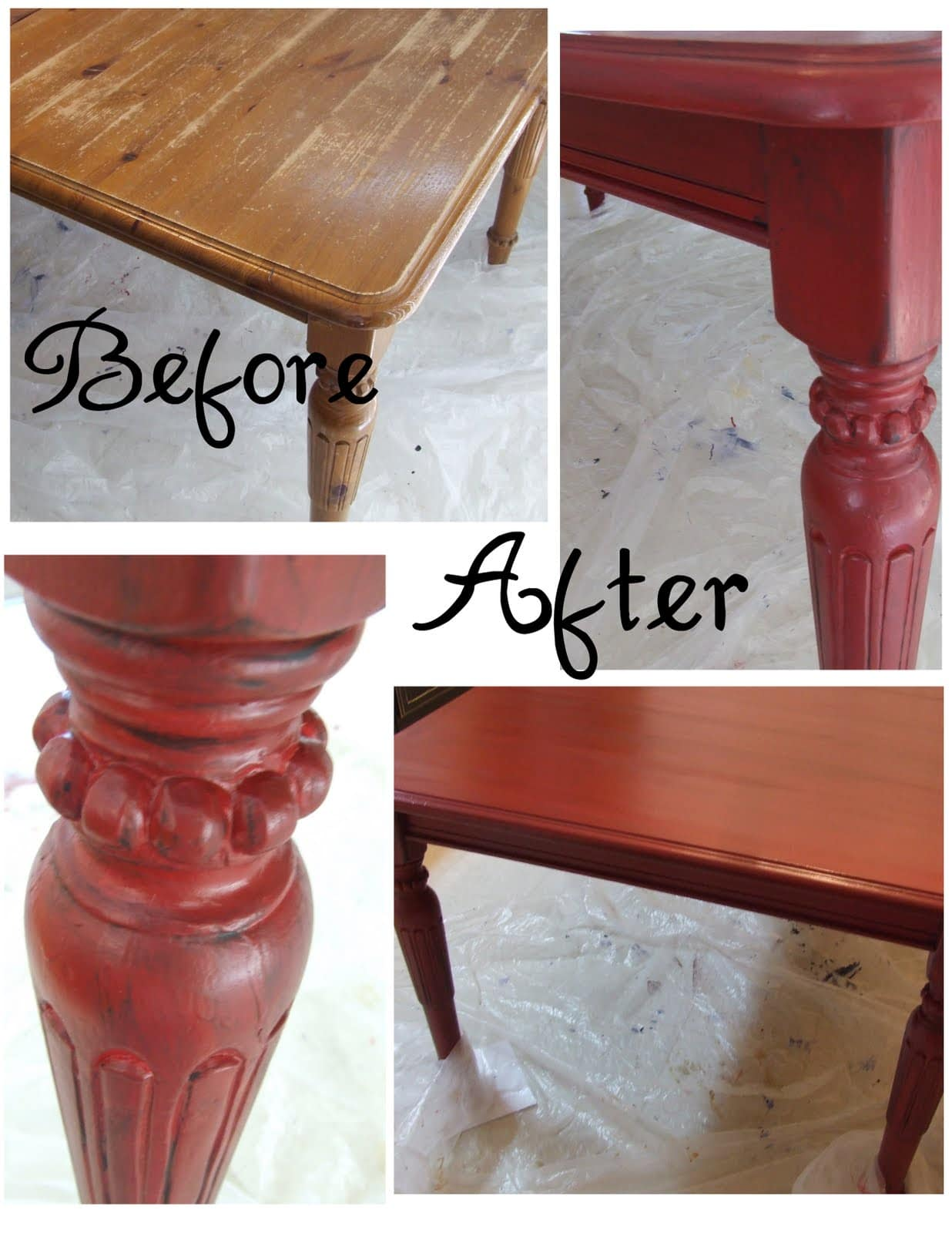 get inspired kitchen table makeovers refinish kitchen table Painted Kitchen Table from Lemonade
