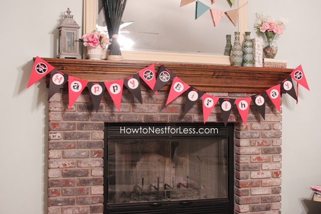 Pirate birthday party bunting banner