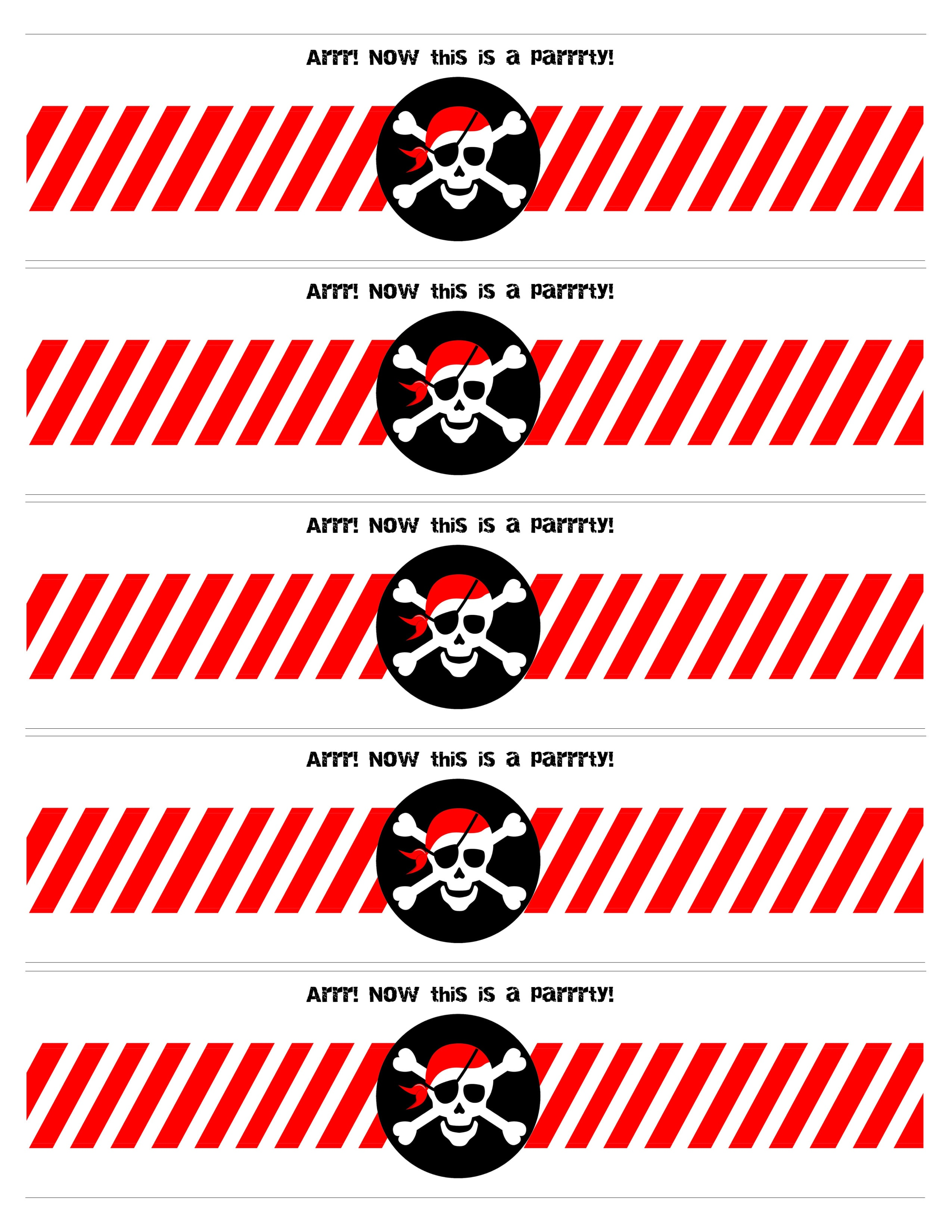 Pirate Themed Birthday Party with FREE Printables How to Nest – Free Printable Pirate Birthday Party Invitations