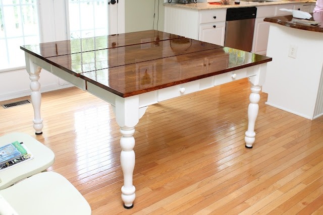stained table how to nest for less