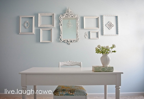 Get inspired 10 gallery wall displays how to nest for less - White wall picture frames ...