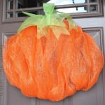 2nd Mesh Pumpkin Wreath