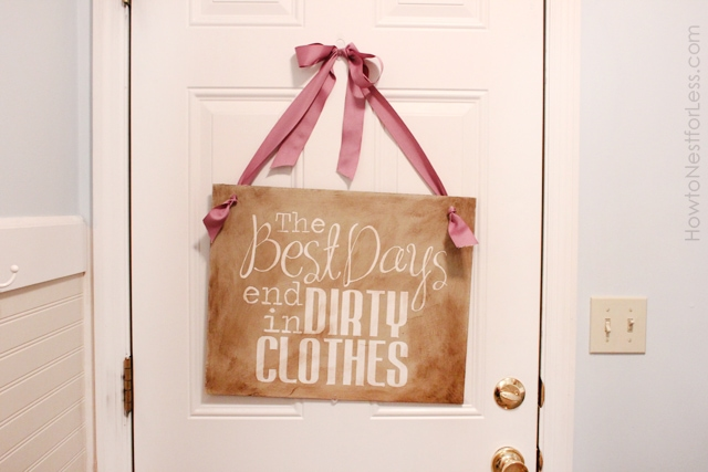Decorative Laundry Room Sign