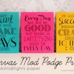 canvas mod podge astrobrights prints