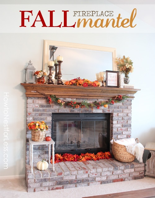 Fall Fireplace Mantel poster.