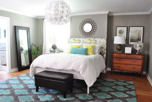Funky and fresh bedroom from Young House Love