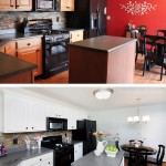 before after kitchen makeover