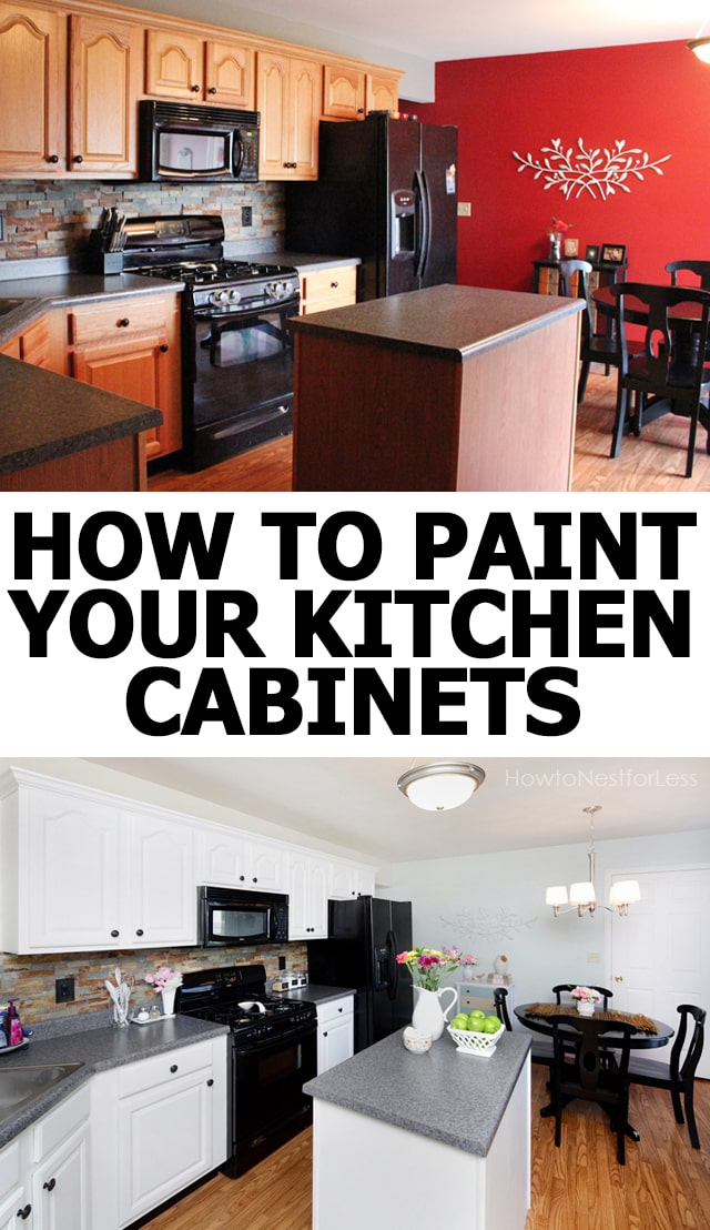 How to paint your kitchen cabinets how to nest for less for Best brush for painting kitchen cabinets
