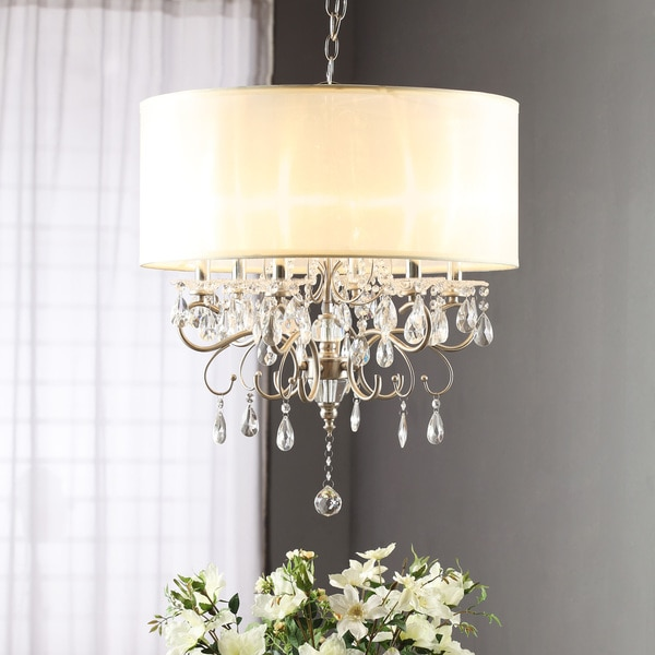 Chandelier Lamp Shades With Crystals – Crystal Chandelier with Shades