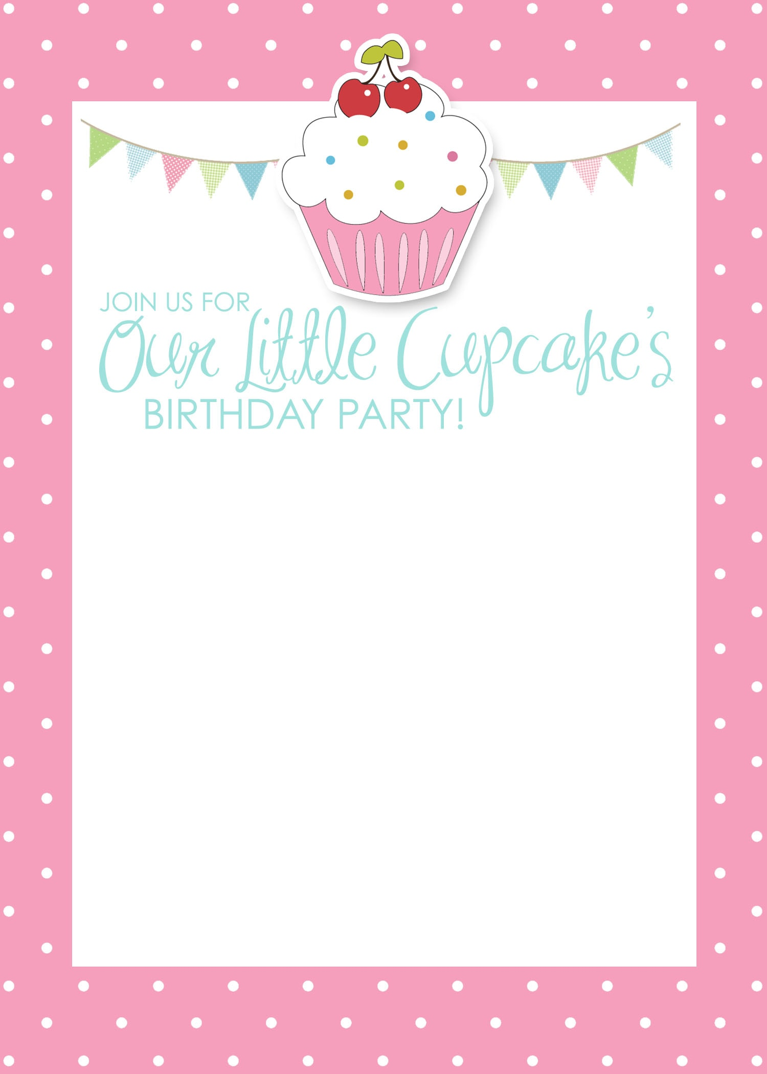 Picture Invites Birthday Cupcake Birthday Invitation